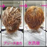 グレイアッシュをダブルカラーで作る、ショートヘアーが素敵な【みやびさん】の髪