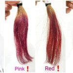 暖色系カラーの発色検証❗酸化染料、ピンク!レッド!オレンジ!