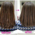 ミディアムヘアをアッシュ系ブラウンへ【Kさん】の髪