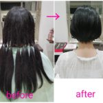 バッサリ❗ロングヘアーな【なずなちゃん】の髪
